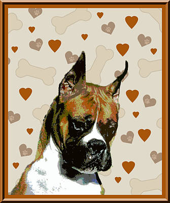 Boxer Art Print by One Rude Dawg Orcutt