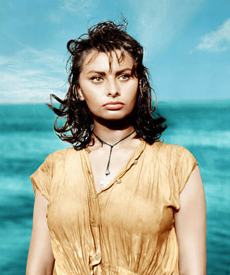 Incol Photograph - Boy On A Dolphin, Sophia Loren, 1957 by Everett