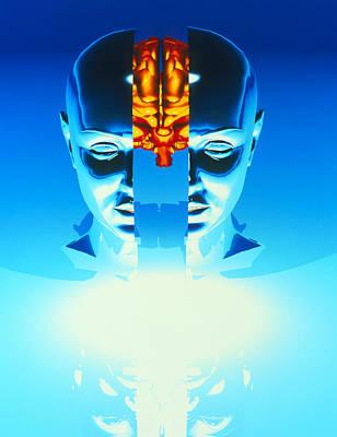 Brain Art Print by Laguna Design