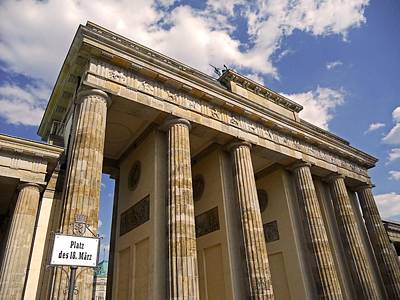 Photograph - Brandenburg Gate - Berlin by Juergen Weiss