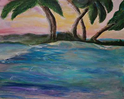 Breathing Sunset Art Print by Tifanee  Petaja
