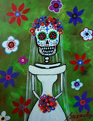 Day Of The Dead Painting - Bride Day Of The Dead by Pristine Cartera Turkus