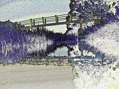 Bridge Across The River Art Print
