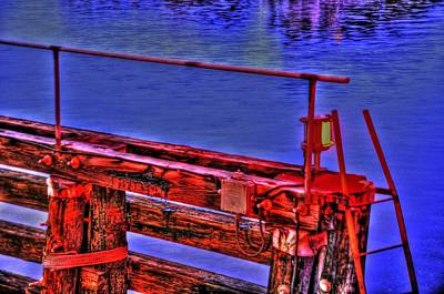 Rowboat Digital Art - Bridge by Barry R Jones Jr