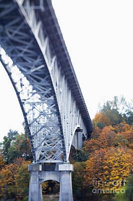 Bridge Footing And Anchor Point Art Print by Don Mason