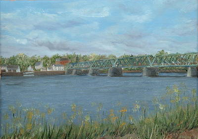 Painting - Bridge From Lambertville To New Hope by Margie Perry