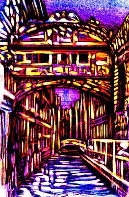 Abstract Realist Landscape Mixed Media - Bridge Of Sighs by Giuliano Cavallo