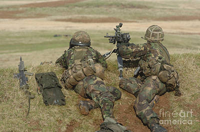 Down On The Ground Photograph - British Army Soldiers Participate by Andrew Chittock
