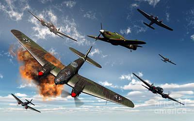Destruction Digital Art - British Hawker Hurricane Aircraft by Mark Stevenson
