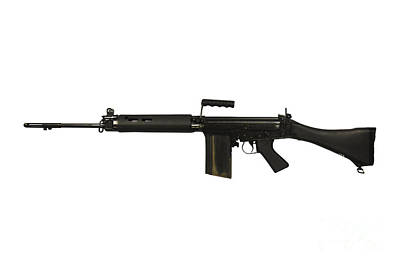 Self Shot Photograph - British L1a1 Self-loading Rifle by Andrew Chittock