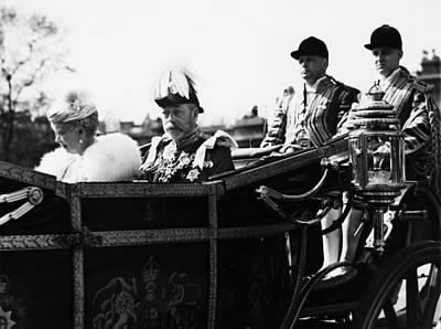 British Royal Family. In Coach British Art Print by Everett