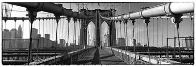 Brooklyn Bridge Art Print by Peter Aitchison