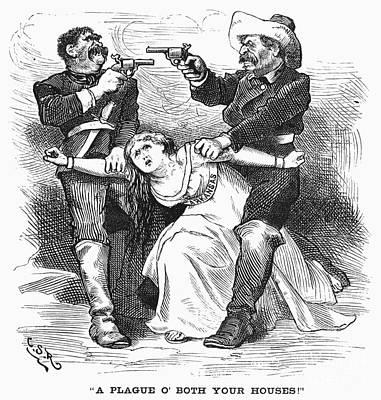 1874 Photograph - Brooks-baxter War, 1874 by Granger