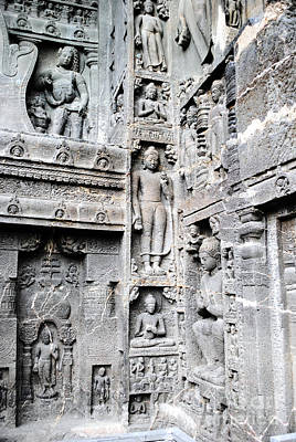 Tradition Photograph - Buddha Carvings At Ajanta Caves by Sumit Mehndiratta