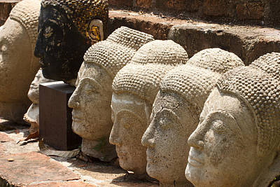 buddha statue in Thailand Art Print by Thanawat  Wongsuwannathorn
