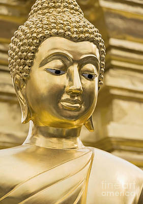 Buddha's Statue Art Print by Roberto Morgenthaler