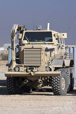 Standoff Wall Art - Photograph - Buffalo Mine Protected Vehicle by Terry Moore