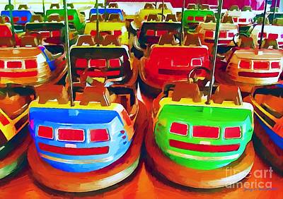 Mixed Media - Bumper Cars by Jerry L Barrett
