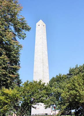 Photograph - Bunker Hill Monument by Kristin Elmquist