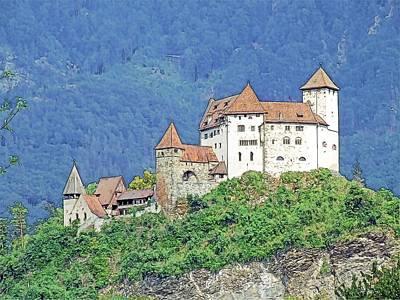 Burg Gutenberg Balzers Litchtenstein Art Print by Joseph Hendrix