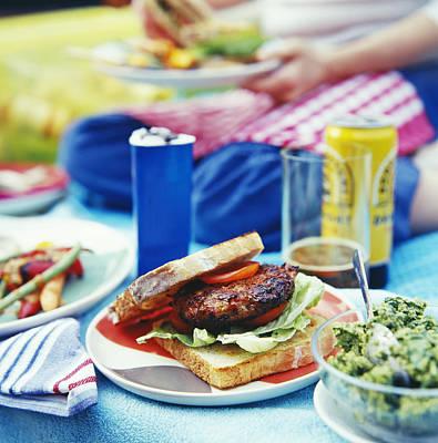 Burger At A Barbeque Art Print by David Munns