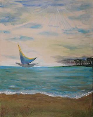 Butterfly Sails Art Print by Tifanee  Petaja