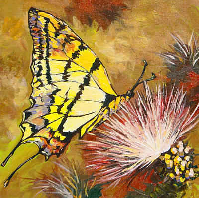 Butterfly Art Print by Sandy Tracey