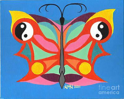 Butterfly Twin2 Art Print by Angela Q