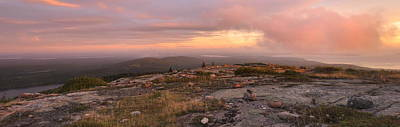 Down East Maine Photograph - Cadillac Mountain Sunrise Panorama by Stephen  Vecchiotti