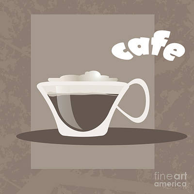 Coffeehouse Digital Art - Cafe by HD Connelly