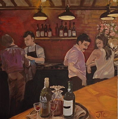 Cafe Art Print by Julie Todd-Cundiff