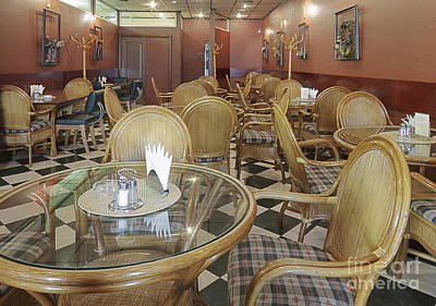Cafe With Rattan Furniture Art Print by Magomed Magomedagaev