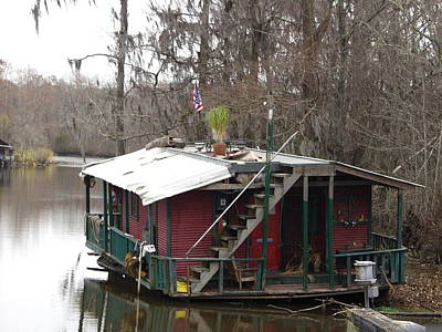 Cajun Houseboat Art Print