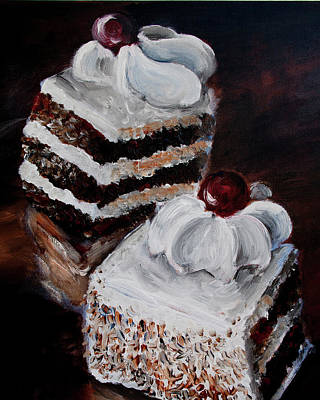 Painting - Cake 02 by Nik Helbig