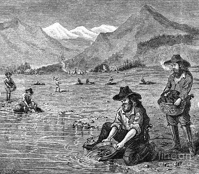 California Gold Rush Art Print by Granger
