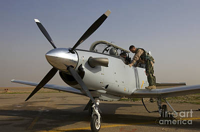 Trainer Aircraft Photograph - Camp Speicher, Iraq - U.s. Air Force by Terry Moore