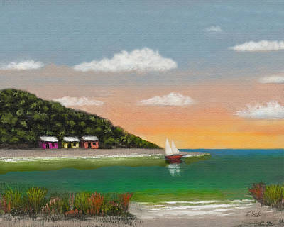 Beautiful Vistas Painting - Canary Cove by Gordon Beck