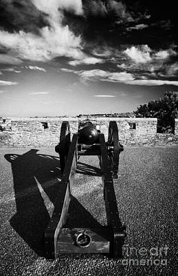 Cannon On Church Bastion Facing Out On The 17th Century Walls Of Derry Print by Joe Fox