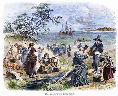 Mayflower Beach Photograph - Cape Cod: Pilgrims by Granger