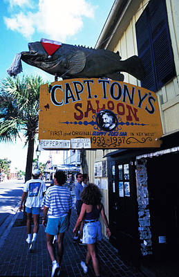 Achieving Royalty Free Images - Captain Tonys Saloon Royalty-Free Image by Carl Purcell