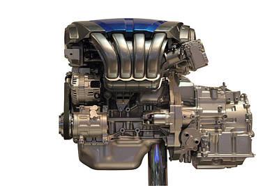 Photograph - Car Engine by Radoslav Nedelchev