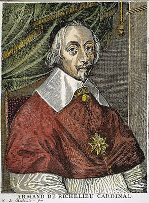 Maltese Photograph - Cardinal Richelieu by Granger