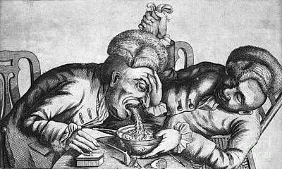 Collier Photograph - Caricature Of Two Alcoholics, 1773 by Science Source