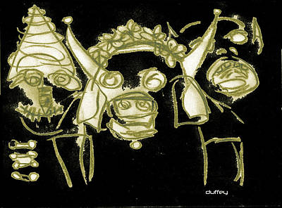 New Orleans Saints Drawings Photograph - Carnavale 3 by Doug  Duffey