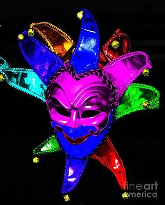 Print featuring the digital art Carnival Mask by Blair Stuart