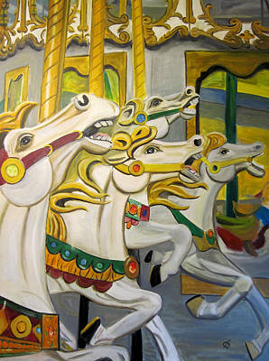 Painting - Carousel by Claudia Croneberger