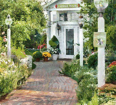 Gas Lamp Painting - Carriage House Mackinac Island Michigan by Anne Kitzman