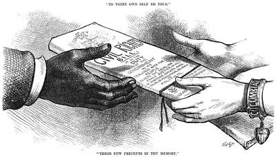 Photograph - Cartoon: Civil Rights 1875 by Granger