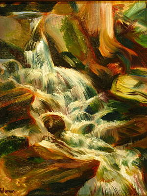 Painting - Cascade by Sid Solomon