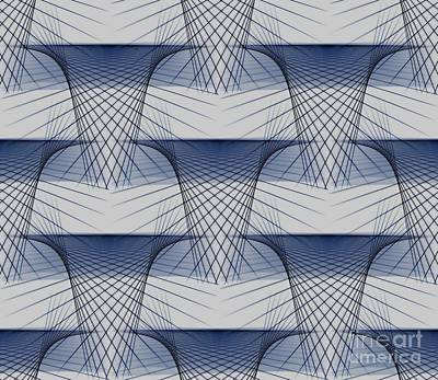 Digital Art - Cascading Geometric Patterns by Yali Shi